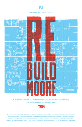 Help #RebuildMoore. All proceeds from the sale of this limited edition letterpress print commissioned by Neenah  ...
