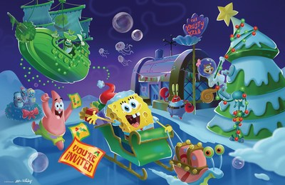 A SpongeBob Christmas Party is the brand new theme revealed for the 2015 ICE LAND: Ice Sculptures with SpongeBob SquarePants for visitors to enjoy as this extremely popular attraction opens at Moody Gardens in Galveston, TX on November 14.