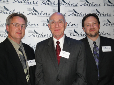 Three Indiana authors demonstrating the best of Indiana's influence on the nation's literary landscape recently received a 2010 Eugene & Marilyn Glick Indiana Authors Award by the Indianapolis/Marion County Public Library Foundation: (L-R) Ray Boomhower (regional author winner), Scott Russell Sanders (national author winner) and Gregg Schwipps (emerging author winner).  (PRNewsFoto/Indianapolis-Marion County Public Library Foundation)
