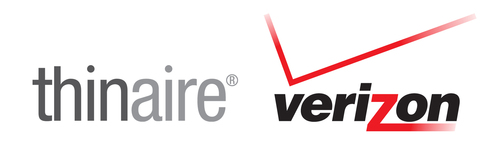 Thinaire Verizon logo.  (PRNewsFoto/Thinaire)