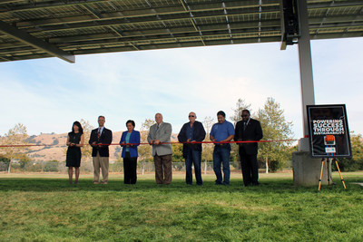 """Berryessa USD Board Members and Leadership Team members commemorate completion of their District-wide modernization project during their recent ribbon cutting and """"flip the switch"""" celebration on October 13th."""