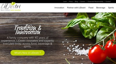 LiDestri Food and Drink's new website leads the contract manufacturing industry.