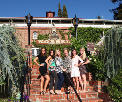 "Six best friends, originally from Louisville, KY, shared a ""Girlfriend Toast"" to win the ultimate girls getaway to Korbel Champagne Cellars in the picturesque Russian River Valley.  (L-R)  Lauren Waldman, Rory Goldstein, Valerie Netherton, Abby Sanders, Sara Bachman and Kathryn Douglas.  (PRNewsFoto/Korbel California Champagne)"