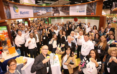 KeHE Distributors toasts in celebration of its B Corp Certification at Expo West.