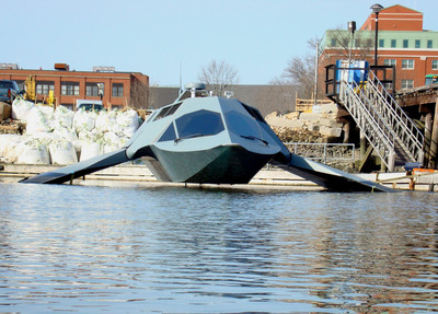 Juliet Marine Systems, Inc.'s revolutionary new surface/sub-surface platform GHOST during recent sea trials.