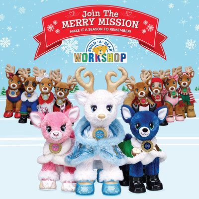 Build-A-Bear Workshop unveiled an exciting array of perfectly personalized gifts just in time for the holidays. The fun Merry Mission story continues with Santa's reindeer, including the reimagined star-powered deer, Golden Glisten, and two new reindeer - Twinkle and Tinsel - in addition to Santa's eight traditional reindeer.