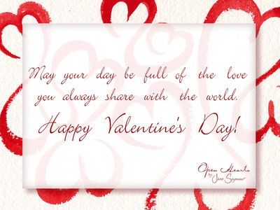 Open Hearts Valentine's Day E-Card for any special someone.