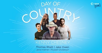 "County music superstar Kenny Chesney will perform at a special C Spire Live ""Day of Country"" live outdoor concert on May 20, 2017 at the Baptist Health Systems campus in Madison, Mississippi.  Joining Chesney will be country music artists Thomas Rhett, Jake Owen, Jana Kramer and Russell Dickerson."