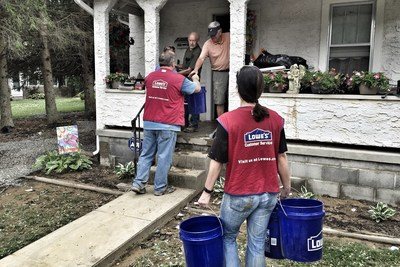 Lowe's Heroes have distributed hundreds of free cleaning supplies to help residents in Clarksburg, Charleston and White Sulphur Springs.