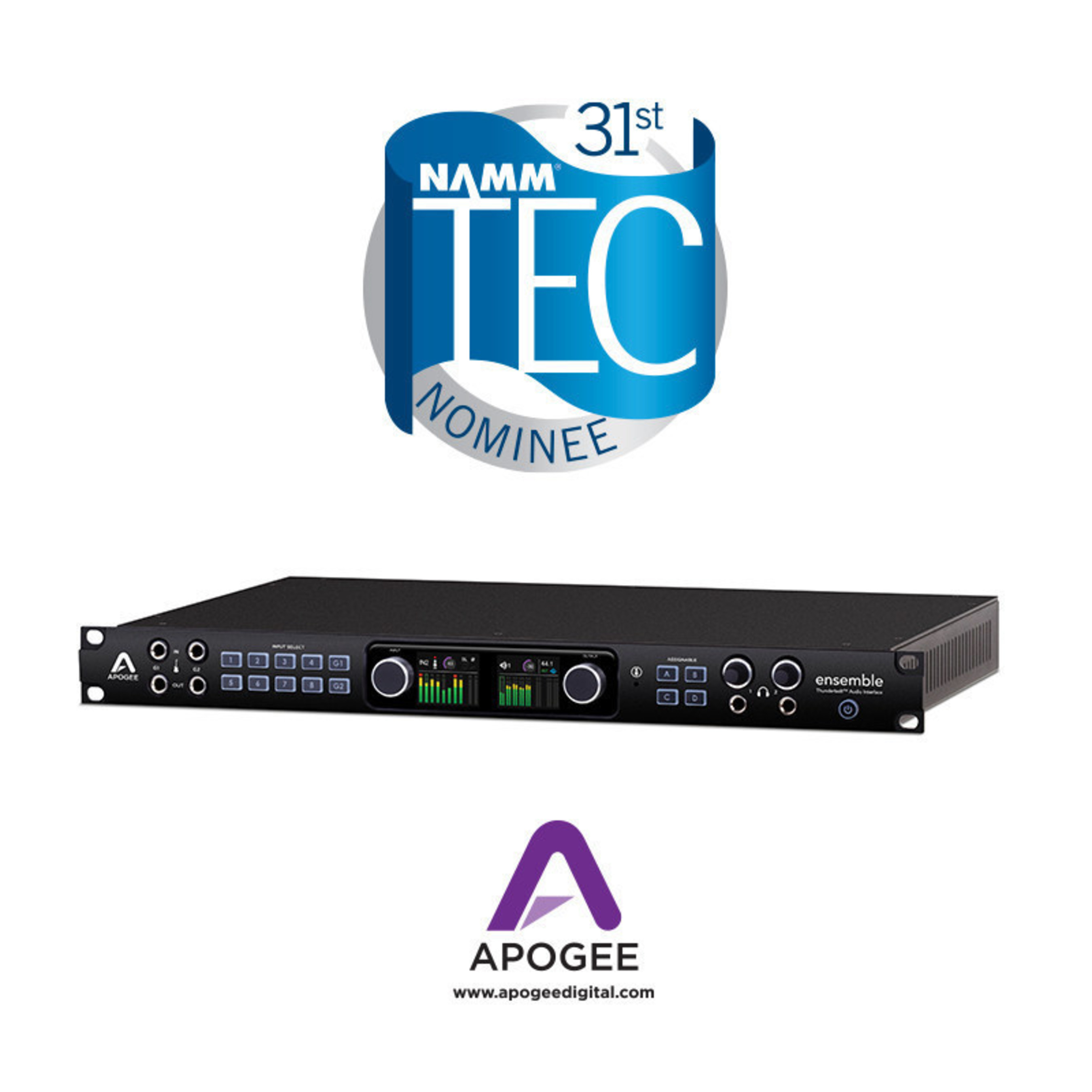 Apogee Electronics Receives 3 TEC Award Nominations for Audio Recording Products