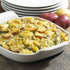 Spinach and Artichoke Two Potato Casserole, www.potatogoodness.com
