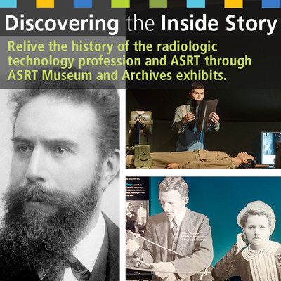 A new timeline infographic uses ASRT Museum and Archives exhibits to track the history of the x-ray and the radiologic technology profession. National Radiologic Technology Week is Nov. 8-14, 2015.
