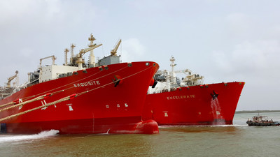Excelerate's FSRUs Perform The First STS Transfer of LNG at Engro Elengy LNG Terminal Pakistan