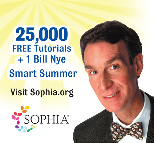 Prevent Summer Brain Drain with Sophia.org.  (PRNewsFoto/Sophia)