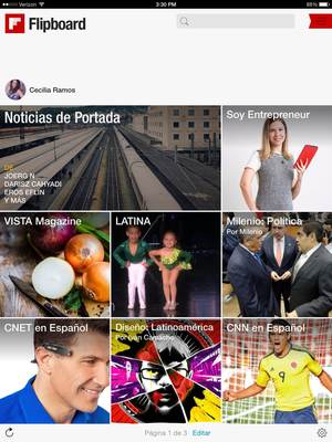 ENG Caption: Flipboard is the place to find publications and news sources popular with Latin audiences in the United States. \ SPA Caption: Flipboard es el lugar donde encontrar publicaciones y fuentes de noticias populares para la audiencia latina en Estados Unidos. (PRNewsFoto/Flipboard)