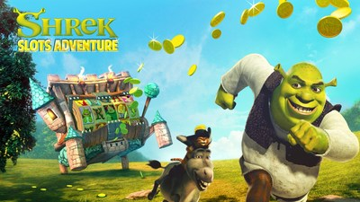 Join Shrek & friends in a SHREKTACULAR Slots experience!