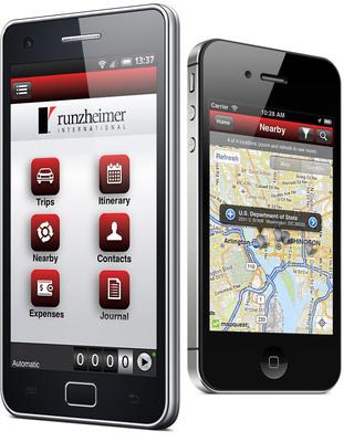 Runzheimer Mobile Route Planning Expense Mileage Tracking Software.  (PRNewsFoto/Runzheimer International)