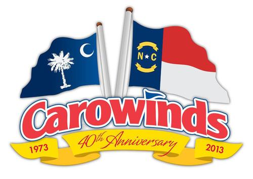 Carowinds 40th Anniversary Logo.  (PRNewsFoto/Carowinds)