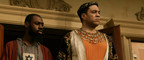 Mali Music (left) as Jesus and Harry Lennix (right) as Pontius Pilate in the upcoming feature film musical Revival! The Experience.