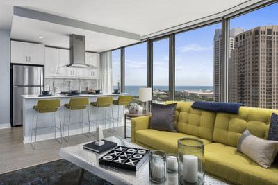 New 41-story luxury apartment tower 1001 South State features innovative and tech-friendly amenities in Chicago's energized South Loop neighborhood.