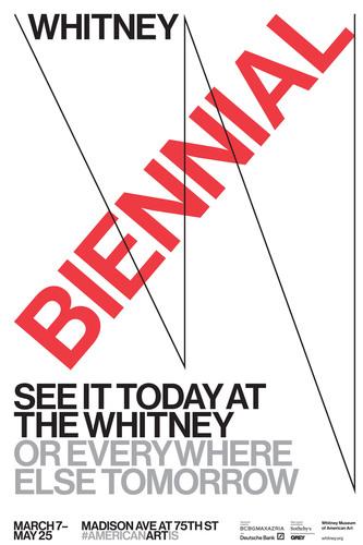 Grey's poster for Whitney Museum Biennial. (PRNewsFoto/Grey) (PRNewsFoto/GREY)