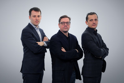 Emakina's CFO Frederic Desonnay, and Co-CEO's Brice Le Blevennec and Karim Chouikri (PRNewsFoto/Emakina) (PRNewsFoto/Emakina)