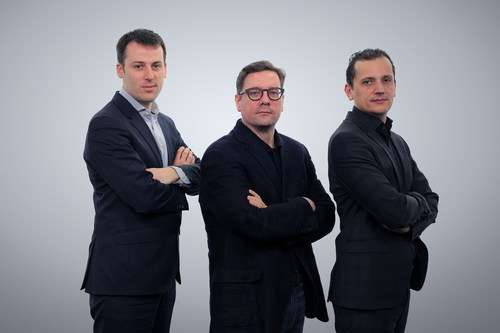 Emakina's CFO Frederic Desonnay, and Co-CEO's Brice Le Blevennec and Karim Chouikri ...