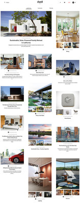 Sample homepage of the new Dwell platform, currently in beta at hello.dwell.com.