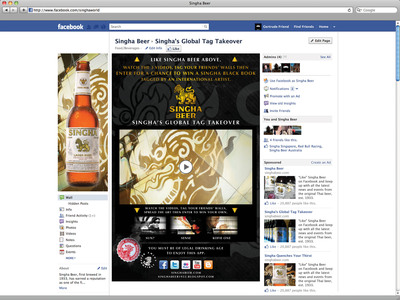 Singha Beer Facebook Global Tag Takeover_Fan Gate