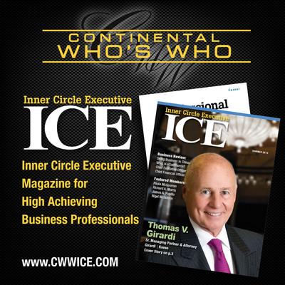 Continental Who's Who: I.C.E. MAGAZINE.  (PRNewsFoto/Continental Who's Who)