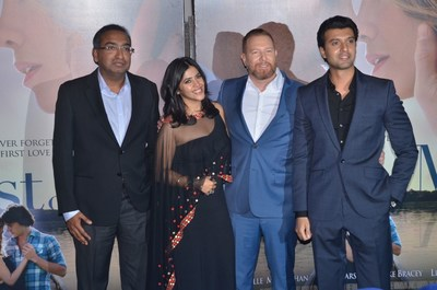 From left to right: Sameer Nair- Group CEO, Balaji Telefilms Ltd, Ekta Kapoor, Ryan Kavanaugh- CEO of Relativity & Ishan Saksena, CEO of Relativity-B4U at The Best of Me Premiere