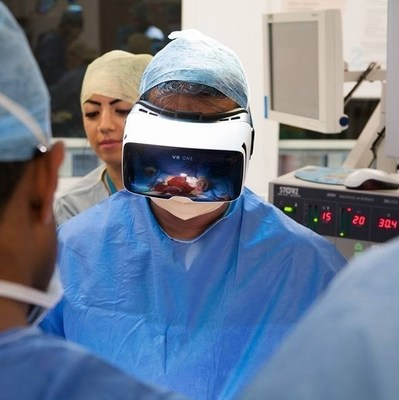 Shafi Ahmed, MD, Consultant Surgeon and Co Founder, Medical Realities, performing the world's first virtual reality operation, watched by 55,000 people in 140 countries. He will be delivering the opening keynote address at the Digital Health Summer Summit, June 6 in San Francisco.