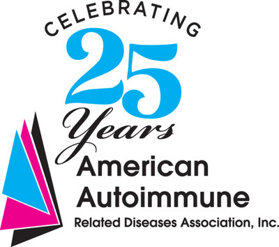 25th Anniversary Logo for the American Autoimmune Related Diseases Association