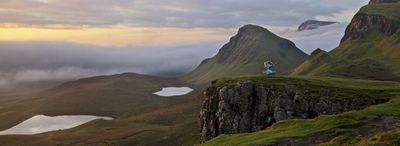 Isle of Skye 'virtually' twins with Skylands, home of Skylanders SWAP Force Wash Buckler at landmark the Quiraing – Panoramic (PRNewsFoto/VisitScotland)
