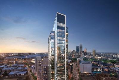 A rendering of Pierce Boston