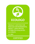 Example of ECOLOGO certification mark for tablets certified to UL 2841 standard.  (PRNewsFoto/UL Environment)