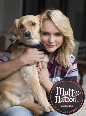 Country star Miranda Lambert and her rescue dog Bellamy with MuttNation