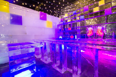 Shivers Ice Bar is one of the new features guests will experience at ICE LAND: Ice Sculptures when it opens Saturday, November 12 at Moody Gardens in Galveston, TX