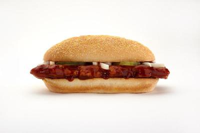 The McRib sandwich has returned nationwide to participating McDonald's(R) restaurants through November 14, 2011.  (PRNewsFoto/McDonald's)