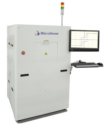 The MicroSense Polar Kerr MRAM metrology system is a 300mm wafer ready, magnetic measurement tool for STT-MRAM production.  This metrology system characterizes the magnetic properties of multi-layer wafers, performing automated non-contact mapping of the magnetic properties of perpendicular MRAM wafers.  (PRNewsFoto/MicroSense, LLC)