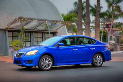 All-New 2013 Nissan Sentra Moves Up in Style, Sophistication, Refinement and Range with Up to 40 MPG Highway.  (PRNewsFoto/Nissan North America)