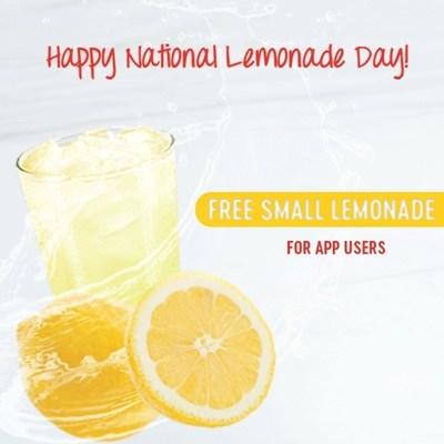 Pretzelmaker to Offer Free Small Lemonade on National Lemonade Day.