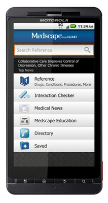 WebMD Launches Medscape for iPad and Android Devices.  (PRNewsFoto/WebMD Health Corp.)