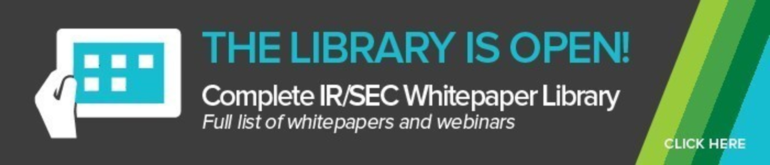 We have a rich library of whitepapers and webinars discussing regulatory compliance and shareholder communications at irblog.prnewswire.com