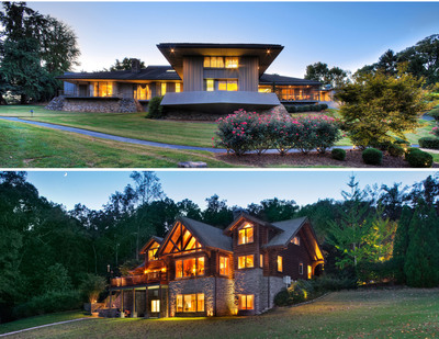 "Concierge Auctions Announces The November 21st Auctions Of Two Luxury Tennessee Estates: ""Mountain Modern On Missionary Ridge,"" One Of Chattanooga's Most Spectacular Homes And The ""Endless Views Estate,"" A Beautiful, Lakefront Home In Emerald Pointe In Soddy Daisy.  (PRNewsFoto/Concierge Auctions)"