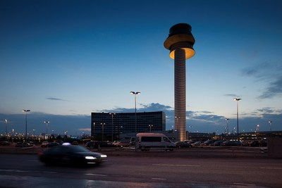 The futuristic tower at Stockholm Arlanda - one of Swedavia's ten airports that will benefit from Lockheed Martin's technology platform. Photo: Swedavia