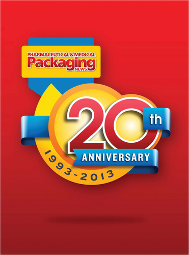 Pharmaceutical & Medical Packaging News 20th Anniversary | 1993-2013.  (PRNewsFoto/Pharmaceutical & Medical Packaging News)