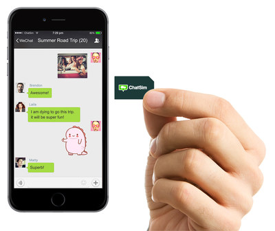 ChatSim is continuing its unstoppable rise and making the news: this time by linking its name to that of WeChat! (PRNewsFoto/ChatSim)