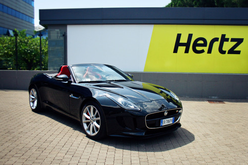 Hertz Europe has unveiled the all-new Jaguar F-TYPE as the launch car of its new Dream Collection of luxury vehicles. Customers of the world's leading car rental company can now experience the thrill of driving in Jaguar's first convertible in 50 years for a day or more. The Hertz and Jaguar Land Rover partnership caters for 15 locations in Belgium, France, Germany, Italy and The Netherlands and includes exclusivity rights for the first six months.  (PRNewsFoto/The Hertz Corporation)