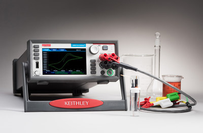 Tektronix unveils industry's first graphical touchscreen Electrochemistry Lab Systems, the 2450-EC and 2460-EC. These new Keithley interactive solutions offer a lower cost, more flexible, and easier method for conducting a range of electrochemistry experiments, including cyclic voltammetry, chronoamperometry, and chronopotentiometry.